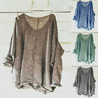 US Womens Oversized Knitting Sweater Baggy Blouse Pullover Plus Size Tops Shirts