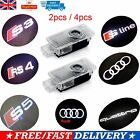 Audi Cree Led Projector Car Door Lights Laser Logo Courtesy Puddle Shadow Lamps