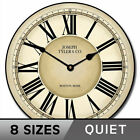 Waterford Wall Clock Home Decor Classic Style Whisper Quiet