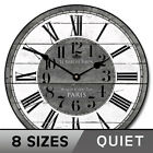 French Street Market Silent Wall Clock Perfect Round Home Wall Decor