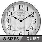 Harbor Gray  Wall Clock Ultra Quiet Non ticking Whisper Quiet
