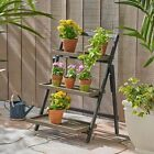 Mesbin Outdoor Acacia Wood Planter Stand