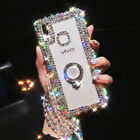 Luxury Bling Ring Holder Stand Kickstand Case phone Cover & Crystal Strap #8
