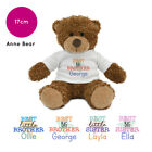 PERSONALISED NAME BEST SISTER BROTHER LITTLE BIG SIBLING ANNE BEAR TEDDY GIFT