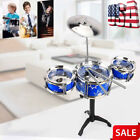 Beginner Children Kid JAZZ Drum Set Kit Drum With Sticks Musical Educational Toy