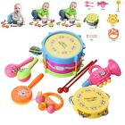 7Pcs Kids Baby Roll Drum Musical Instruments Band Kit Children Toy Gift Set Toys
