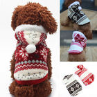 Christmas Pet Dog Cat Puppy Winter Sweater Knitted Coat Costume Apparel Clothes