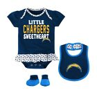 "Los Angeles Chargers NFL Infant Navy ""Little Sweet"" Creeper, Bib $13.99 USD on eBay"