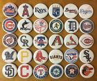 "MLB Baseball Team Logos 30 1 1/4"" Buttons or Magnets for Standings Boards"