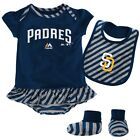 "San Diego Padres MLB Majestic Newborn ""Pennant"" Creeper, Bib & Bootie Set on Ebay"