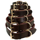 Genuine Leather Dog Collar Small Large Dogs Collar for Labrador French Bulldog