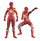 Simil Spiderman Steel Costume Carnevale Uomo Donna Vestito Cosplay Zentai SPM008