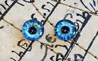 Taxidermy Glass Dragon, Doll, Teddy Eyes, Human Blue 10mm, 14mm, 16mm