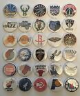 "NBA Basketball Team Logos 30 1 1/4"" Buttons or Magnets for Standings Boards"