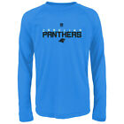 "Carolina Panthers NFL Youth Blue ""Maximal"" Dri-Tek Long Sleeve T-Shirt"