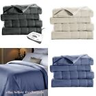 Heated Blanket Electric Fleece 5 heat Settings Sunbeam Multiple Size & Colors image