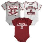 Alabama A&M Bulldogs NCAA Infant Maroon/White/Grey 3 Piece Creeper Set
