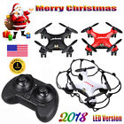 Nano Quadcopter Mini RC Drone 2.4Ghz 6-Axis Gyro 4CH LED Helicopter Xmas Gift US