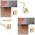 Women Gold Plated Initial Alphabet Letter A-z Pendant Chain Necklace Jewelry