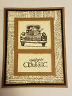 Внешний вид - Card Kit: You're a Classic Car Truck Masculine Birthday Father's Day Stampin Up!