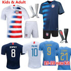 New Football Outfit Kids Adult Jersey Soccer Strips Sports Full Suits with Socks