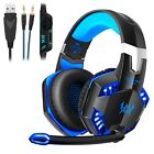 3.5mm Casque Gaming Gamer MIC Stéréo Basse LED pour PC Mac Laptop PS4 Xbox One
