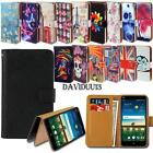 Leather Smart Stand Wallet Case Cover For Various ZTE Blade Smartphones