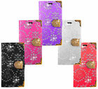 Cubot Wileyfox Leather Bling Diamond Wallet Kickstand Flip Book Bag Case Cover