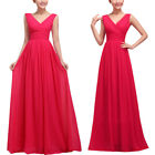 Size 6-14 Women Formal Long Evening Ball Gown Party Prom Bridesmaid Dress Stock