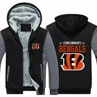 Cincinnati Bengals Fans Hoodie Fleece zip up Coat winter Jacket warm Sweatshirt on eBay