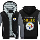 2019 Pittsburgh Steelers Hoodie Fleece zip up Coat winter Jacket warm Sweatshirt on eBay
