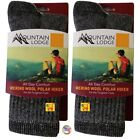 MOUNTAIN LODGE MERINO WOOL POLAR HIKER SOCKS MEN'S AND WOMEN'S VALUE PACKS