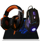 Professional 3200 DPI 7 Button 7D LED USB Wired Gaming Mouse Mice+Over-ear