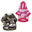 1X(Clothing Dog Jacket with Hooded Clothes Animal Camouflage Costume I3G6)
