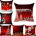 Merry Christmas Pattern Sofa Car Throw Cushion Pillow Cover Case Home Decor Gift image