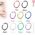 3-10pcs X-thin Nose Hoop Ring 22g Stud Surgical Steel Body Piercing Jewellery