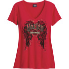 Harley-Davidson Women's Harley Wings Slub Tee R002654 $31.0 USD on eBay