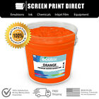 Ecotex ORANGE -  Water Based Ink for Screen Printing - ALL SIZES