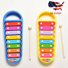 MINI Hand Knocks 8Note Xylophone Kid Musical Toys Preschool Toddler Toy for Baby