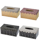 Luxury Crystal Diamond Rhinestone BEAUTY Decor Tissue Box Cover for Home Car