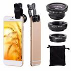 3 in1 Fish Eye Wide Angle Macro Telephoto Lens Camera For iPhone 5 SE 6 7 8 Plus