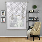 Regal Home Collections Trellis Quatrefoil Tie Up Curtain Shade - Assorted Colors