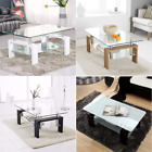 2-tier Clear Glass Coffee Table With Storage Shelf Glass & Chrome Living Room