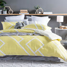 New Essentials Niah Geo Yellow Quilt Cover Set