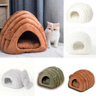 Padded Pet Dog Puppy Igloo Bed Warm Sleep Rest Sofa House Tunnel Snug Cave Nests