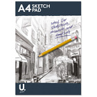 A3 A4 Sketch Pad Book White Paper Artist Sketching Drawing Doodling Art Craft UK
