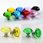 Lot Crystal Clear Glass Dresser Door Knobs Handle Cabinet Furniture Drawer Acces