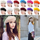 Cap For Women Fashion Classic Wool Blend Warm French Fluffy Beanie Beret Hat