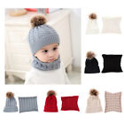 Внешний вид - Toddler Kids Girl&Boy Baby Newborn Winter Crochet Knit Hat Beanie Cap Scarf Set
