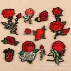 Rose Badges Embroidered Iron on Patch Flower Appliques T-shirt Clothing DIY Logo $0.99 USD on eBay